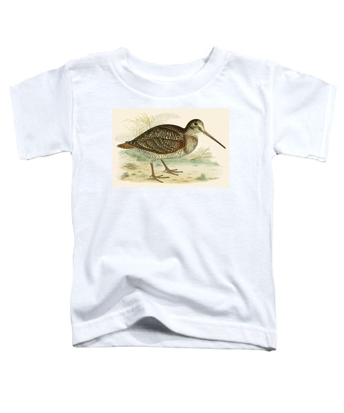 Woodcock Toddler T-Shirt by Beverley R Morris