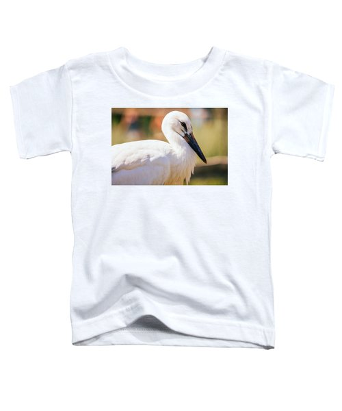 Young Stork Portrait Toddler T-Shirt by Pati Photography
