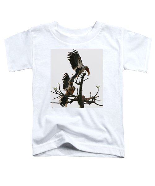Hornbill Courtship Toddler T-Shirt by Bruce J Robinson