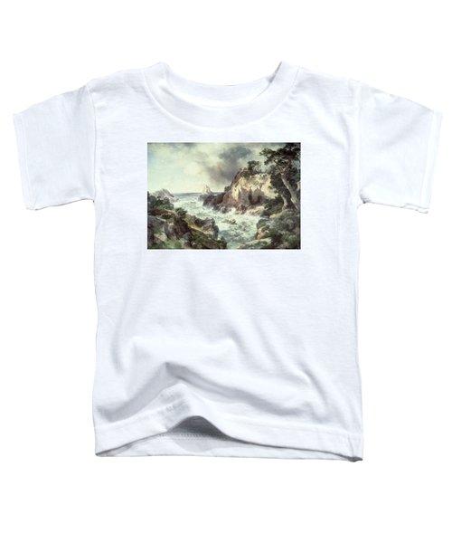 Point Lobos At Monterey In California Toddler T-Shirt by Thomas Moran