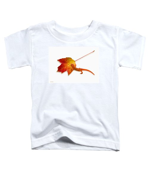 Red Spotted Newt Toddler T-Shirt by Ron Jones