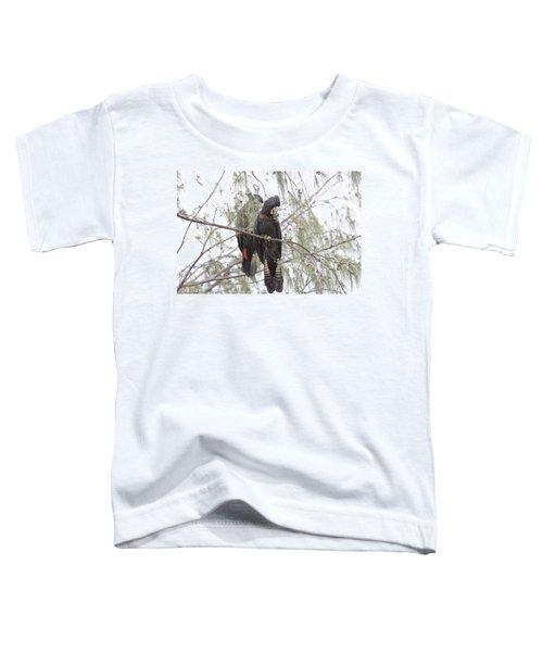 Red Tailed Black Cockatoos Toddler T-Shirt by Douglas Barnard