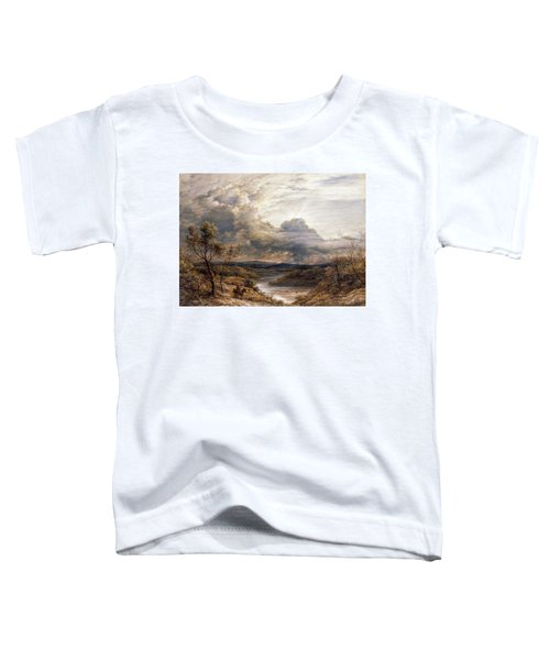 Sun Behind Clouds Toddler T-Shirt by John Linnell