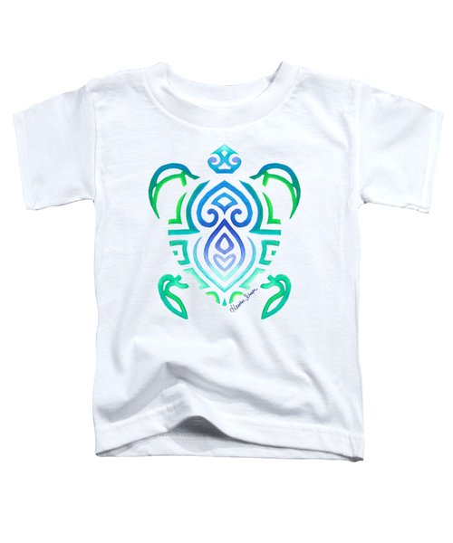 Tribal Turtle Toddler T-Shirt by Heather Schaefer