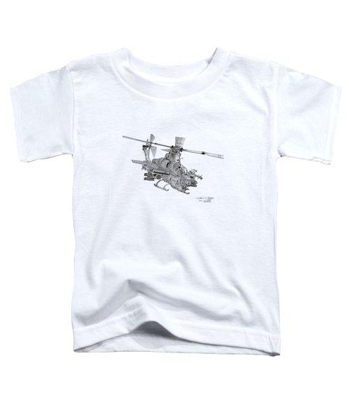 Bell Ah-1z Viper Toddler T-Shirt by Arthur Eggers