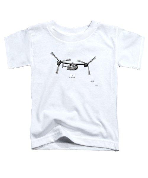 Bell Boeing Cv-22b Osprey Toddler T-Shirt by Arthur Eggers