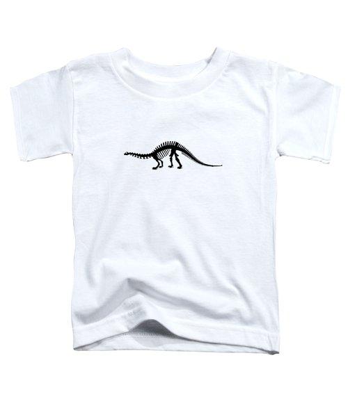 Brontosaurus Skeleton Toddler T-Shirt by Mordax Furittus