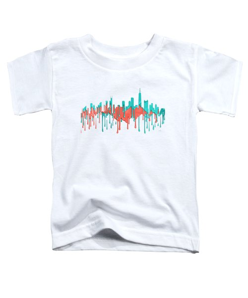 Chicago Illinios Skyline Toddler T-Shirt by Marlene Watson