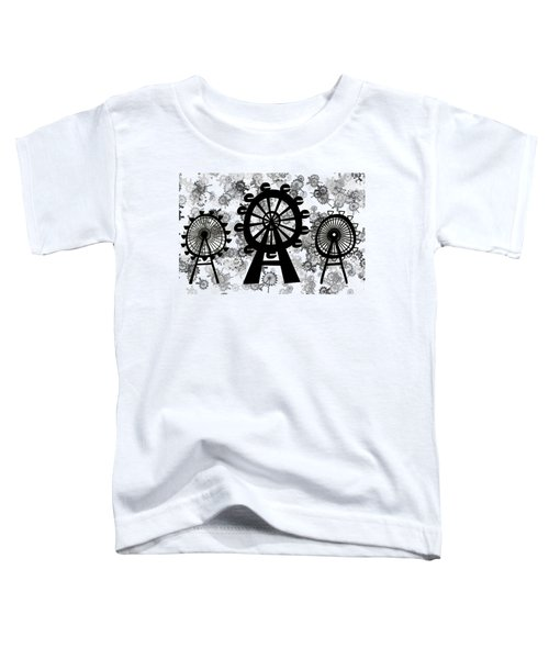 Ferris Wheel - London Eye Toddler T-Shirt by Michal Boubin