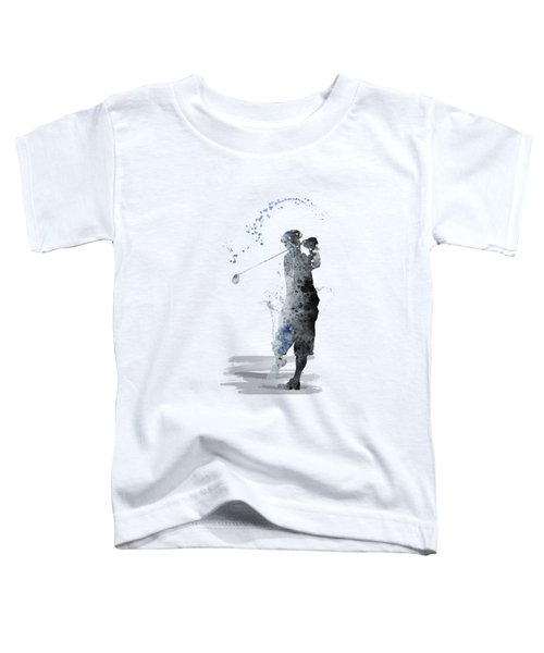 Golfer Toddler T-Shirt by Marlene Watson