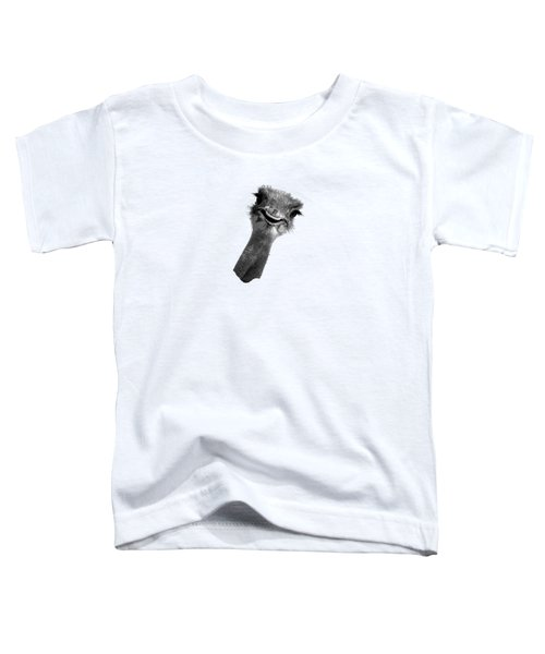 Happy Ostrich Toddler T-Shirt by Jan Carr