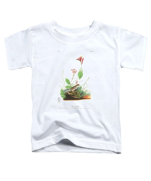 Henslow's Bunting  Toddler T-Shirt by John James Audubon