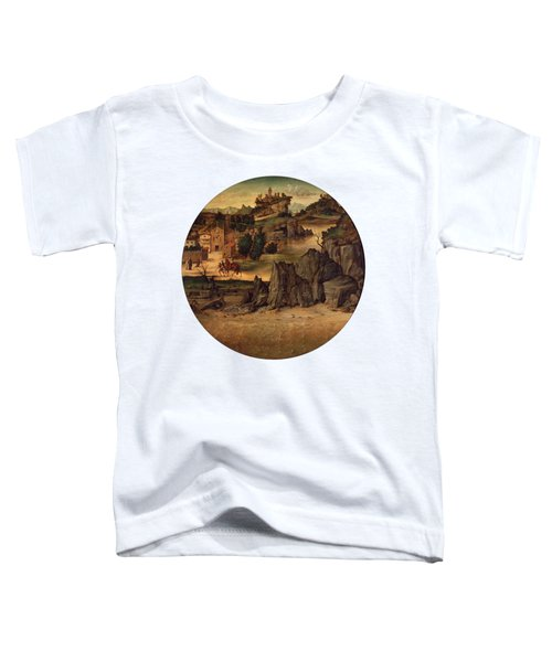 Landscape With Castles Toddler T-Shirt by Bartolomeo Montagna