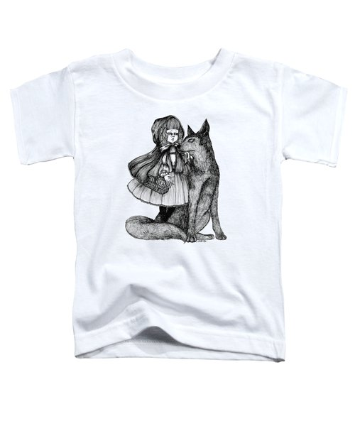 Little Red Riding Hood Toddler T-Shirt by Akiko Okabe