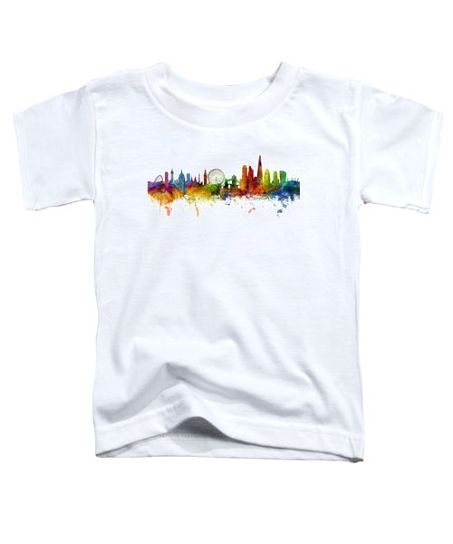 London England Skyline Panoramic Toddler T-Shirt by Michael Tompsett
