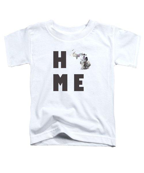 Michigan State Map Toddler T-Shirt by Marlene Watson