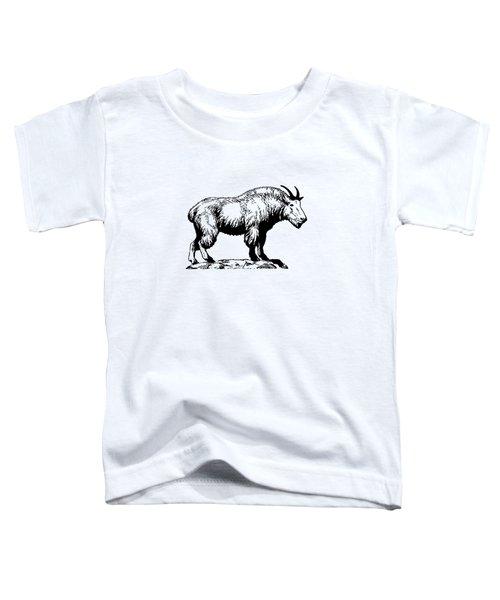 Mountain Goat Toddler T-Shirt by Mordax Furittus