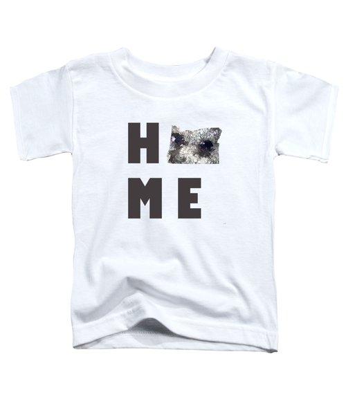 Oregon State Map Toddler T-Shirt by Marlene Watson
