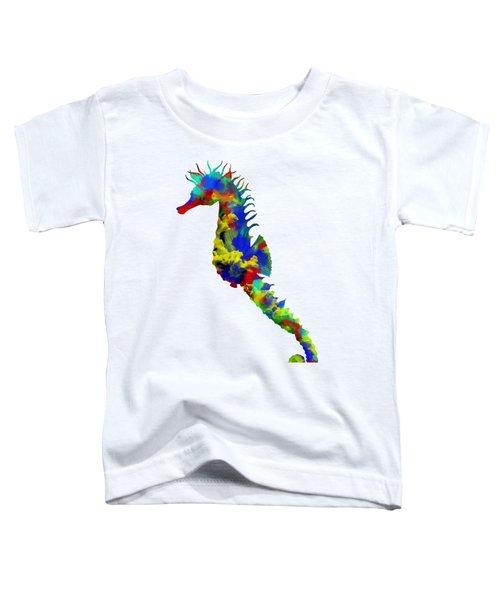 Seahorse Art Toddler T-Shirt by Diana Van