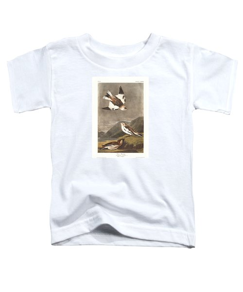 Snow Bunting Toddler T-Shirt by John James Audubon