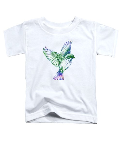 Textured Bird With Changeable Background Color Toddler T-Shirt by Sebastien Coell