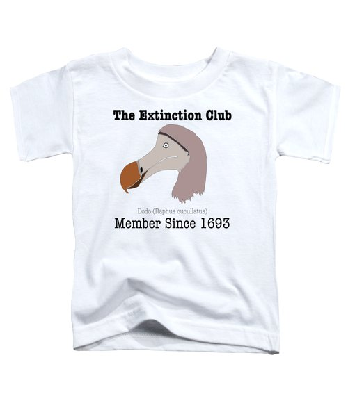 The Extinction Club - Dodo Toddler T-Shirt by Marcus England