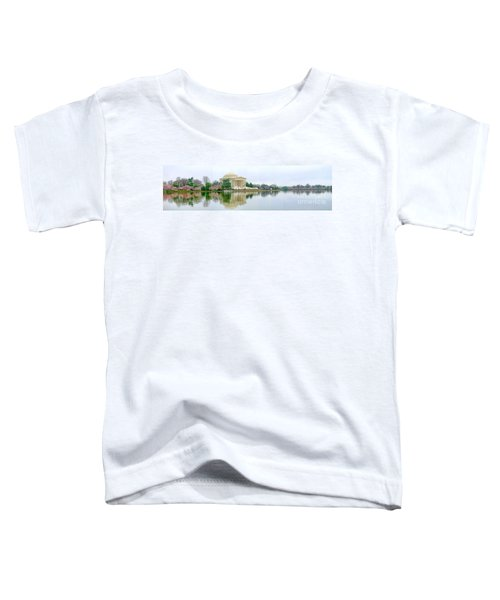 Tidal Basin With Cherry Blossoms Toddler T-Shirt by Jack Schultz