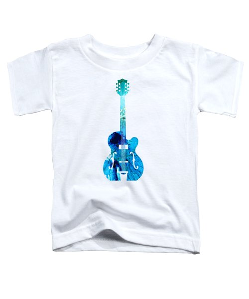Vintage Guitar 2 - Colorful Abstract Musical Instrument Toddler T-Shirt by Sharon Cummings