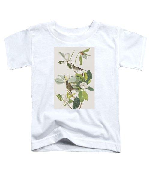Warbling Flycatcher Toddler T-Shirt by John James Audubon