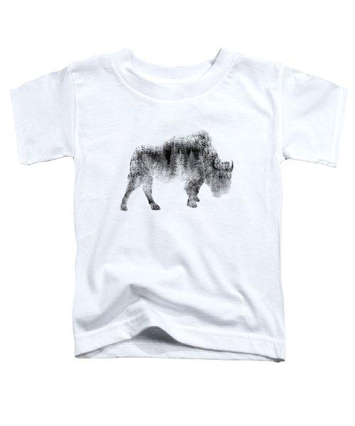 Wild Bison Toddler T-Shirt by Diana Van
