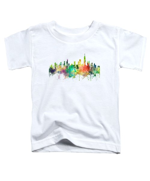 Chicago Illinois Skyline Toddler T-Shirt by Marlene Watson
