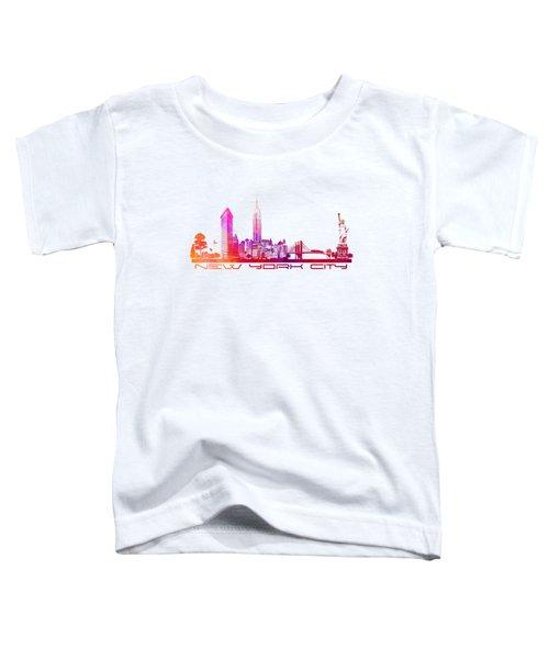 New York City Skyline Toddler T-Shirt by Justyna JBJart