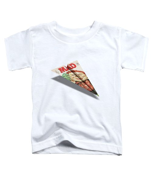 157 Mad Paper Airplane Toddler T-Shirt by YoPedro