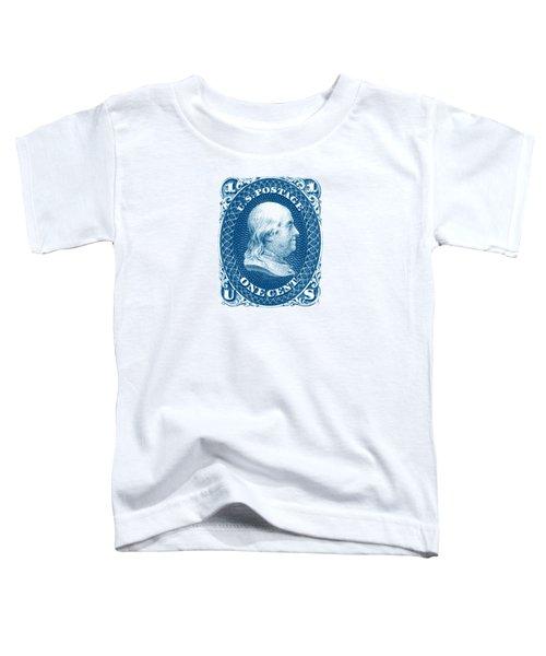 1861 Benjamin Franklin Stamp Toddler T-Shirt by Historic Image