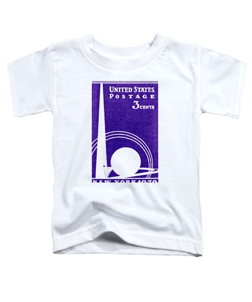 1939 New York Worlds Fair Stamp Toddler T-Shirt by Historic Image
