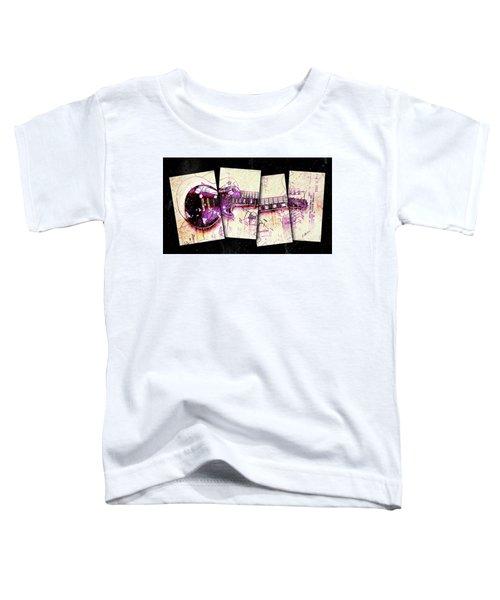 1955 Les Paul Custom Black Beauty V3 Toddler T-Shirt by Gary Bodnar
