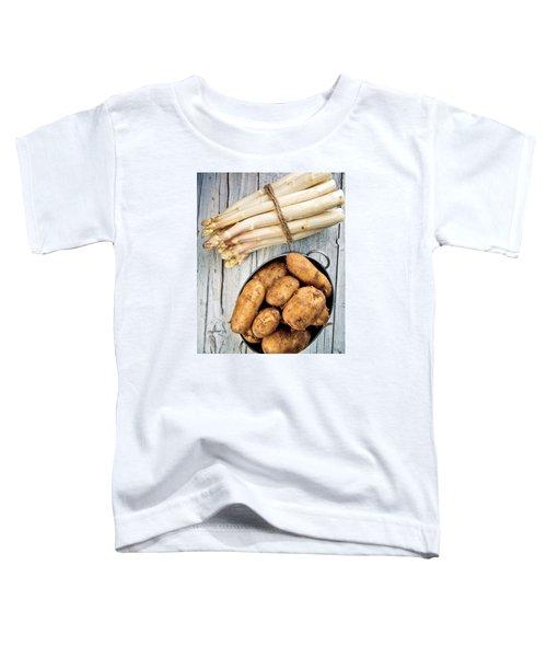 Asparagus Toddler T-Shirt by Nailia Schwarz