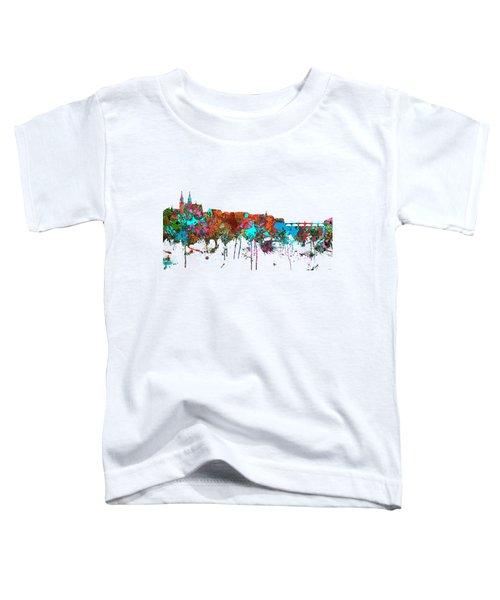 Basle Switzerland Skyline Toddler T-Shirt by Marlene Watson