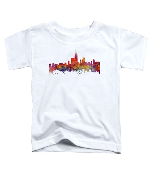 Chicago Toddler T-Shirt by JW Digital Art