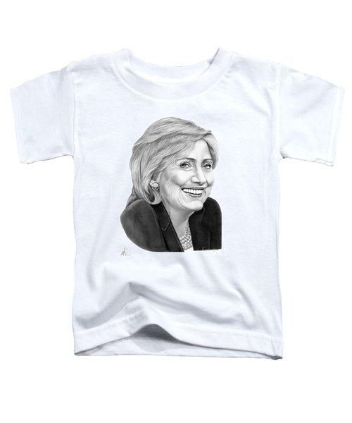 Hillary Clinton Toddler T-Shirt by Murphy Elliott