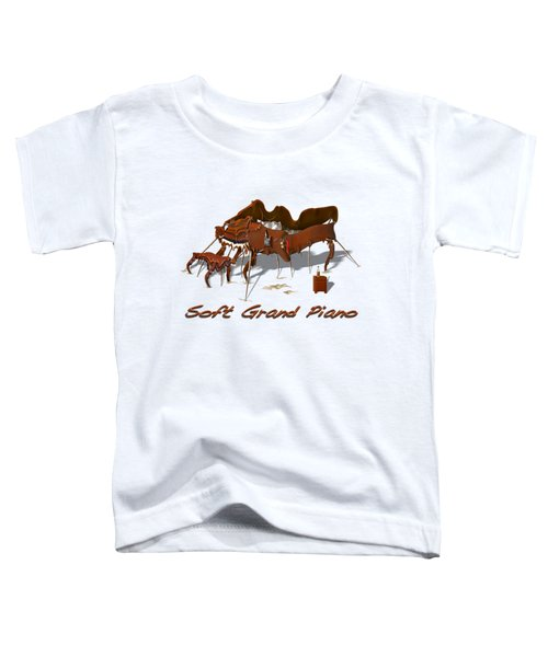 Soft Grand Piano  Toddler T-Shirt by Mike McGlothlen