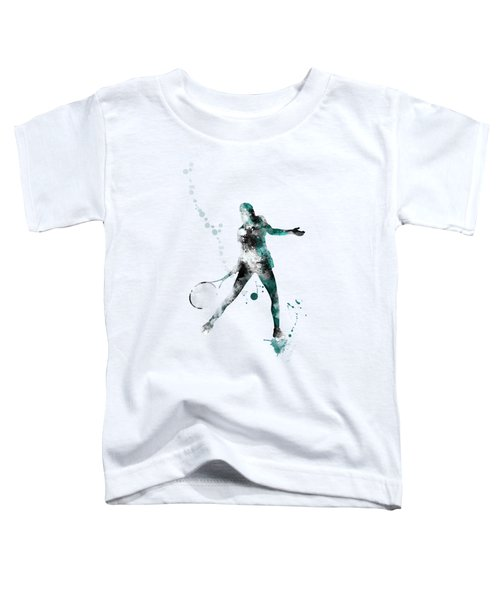 Tennis Player Toddler T-Shirt by Marlene Watson