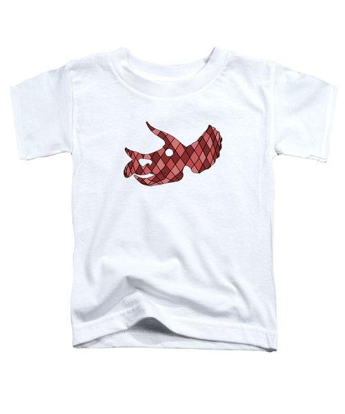 Triceratops Skull Toddler T-Shirt by Mordax Furittus