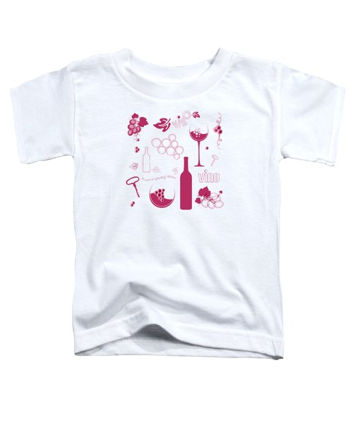 Wine Background Pattern Toddler T-Shirt by Serena King