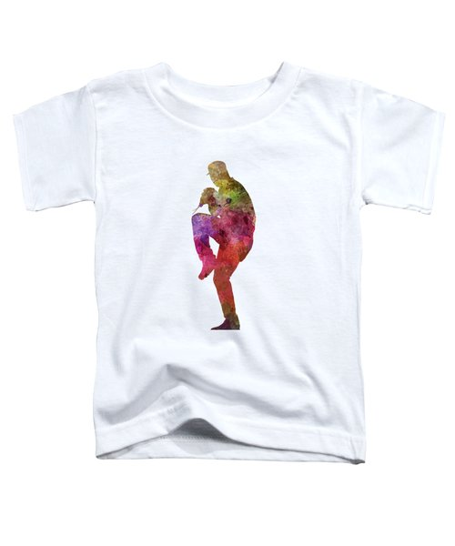 Baseball Player Throwing A Ball Toddler T-Shirt by Pablo Romero