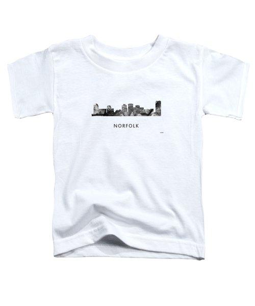 Norfolk Virginia Skyline Toddler T-Shirt by Marlene Watson