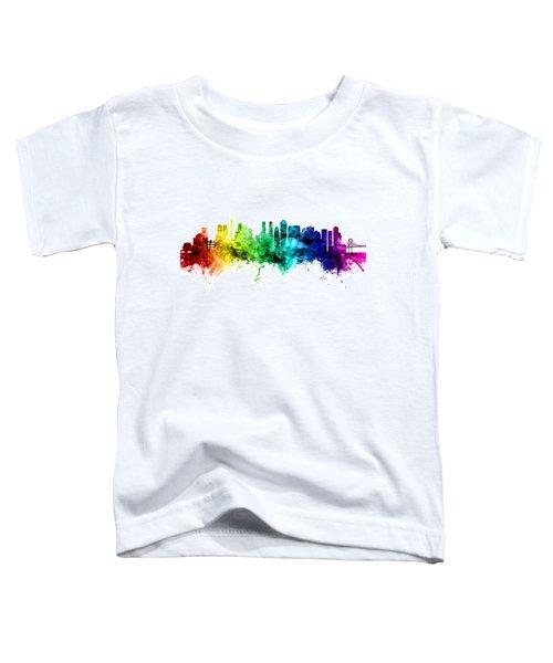 Tokyo Japan Skyline Toddler T-Shirt by Michael Tompsett