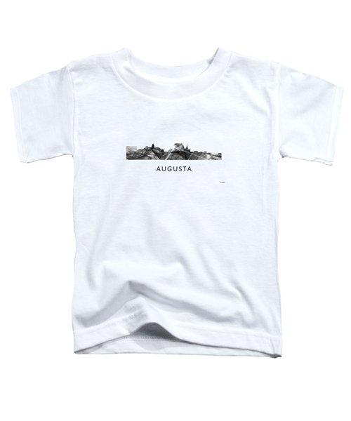 Augusta Maine Skyline Toddler T-Shirt by Marlene Watson