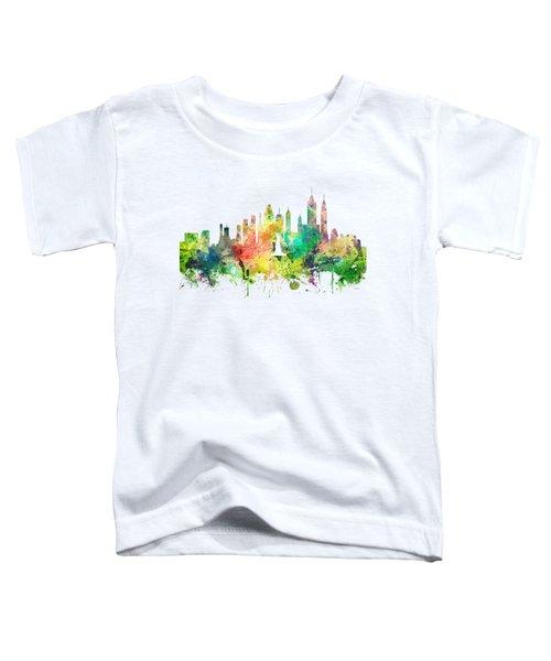 New York Skyline Toddler T-Shirt by Marlene Watson