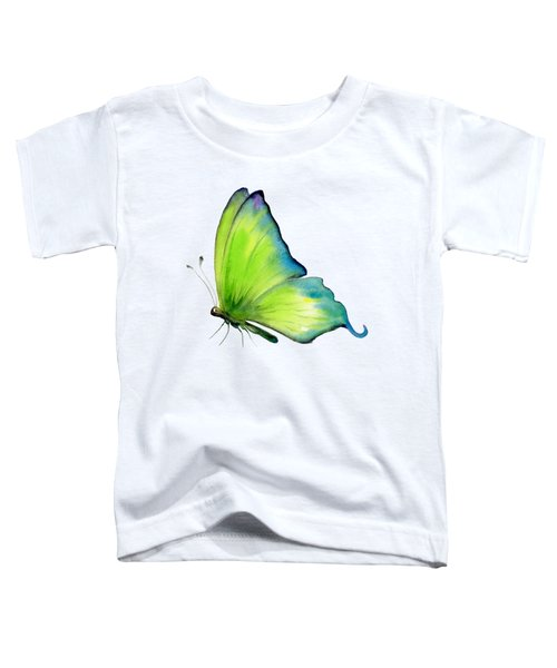 4 Skip Green Butterfly Toddler T-Shirt by Amy Kirkpatrick